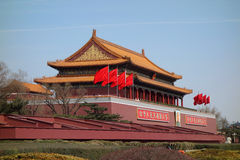 Tian an men under blue sky Royalty Free Stock Photo