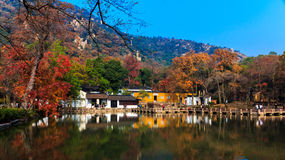 Tian Ping mountain stock image