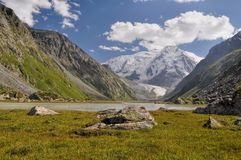 Tian-Shan in Kyrgyzstan Royalty Free Stock Photo