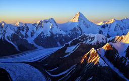 Tian Shan mountain panorama Stock Photos