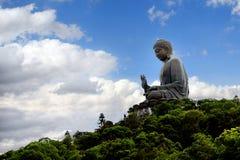 Tian solbrända Buddha Arkivbilder