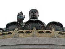 Tian solbrända Buddha i Hong Kong arkivbilder