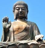Tian solbrända Buddha i Hong Kong Arkivfoto
