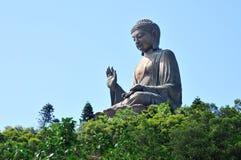 Tian solbrända Buddha i Hong Kong Royaltyfri Fotografi