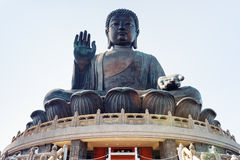 Tian solbrända Buddha i Hong Kong Royaltyfria Bilder