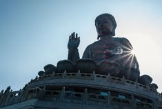 Tian Tan Βούδας Po Lin στο μοναστήρι στο Χονγκ Κονγκ Στοκ φωτογραφία με δικαίωμα ελεύθερης χρήσης
