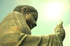 Tian Tan Βούδας ή γιγαντιαίο άγαλμα του Βούδα Po Lin στο μοναστήρι Στοκ φωτογραφία με δικαίωμα ελεύθερης χρήσης