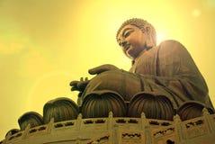 Tian Tan Βούδας ή γιγαντιαίο άγαλμα του Βούδα Po Lin στο μοναστήρι Στοκ φωτογραφίες με δικαίωμα ελεύθερης χρήσης