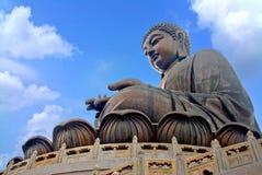 Tian Tan Βούδας ή γιγαντιαίο άγαλμα του Βούδα Po Lin στο μοναστήρι Ngong Στοκ φωτογραφία με δικαίωμα ελεύθερης χρήσης
