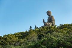 Tian Tan Βούδας/γιγαντιαίο μοναστήρι Buddha/Po Lin στο Χονγκ Κονγκ Στοκ Εικόνες
