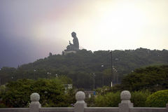 Tian Tan Βούδας (ο μεγάλος Βούδας), Po Lin μοναστήρι, Χονγκ Κονγκ Στοκ φωτογραφία με δικαίωμα ελεύθερης χρήσης