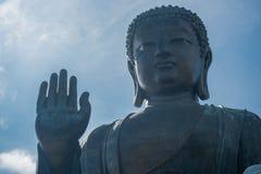 Tian Tan Βούδας στο χωριό Χογκ Κογκ μεταλλικού θόρυβου Ngong Στοκ Εικόνες