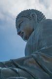 Tian Tan Βούδας στο χωριό Χογκ Κογκ μεταλλικού θόρυβου Ngong Στοκ Εικόνα