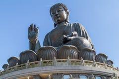 Tian Tan ο μεγάλος Βούδας Po Lin στο μοναστήρι στο νησί Lantau, Χονγκ Κονγκ Στοκ εικόνα με δικαίωμα ελεύθερης χρήσης