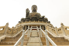 Tian Tan ο μεγάλος Βούδας Po Lin του μοναστηριού Στοκ εικόνες με δικαίωμα ελεύθερης χρήσης