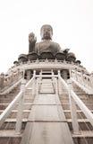 Tian Tan ο μεγάλος Βούδας Po Lin του μοναστηριού Στοκ Εικόνες