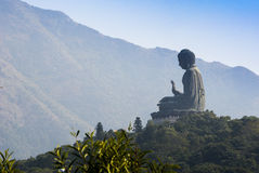 Tian Tan Будда, остров Lantau, Гонконг Стоковое Фото