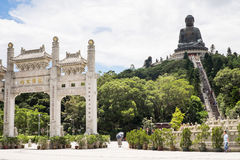 Tian Tan or Big Buddha on Lantau Island, Hong Kong Stock Photos