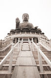 Tian Tan Big Buddha of Po Lin Monastery Stock Photo