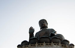 Tian Tan Big Buddha Statue Stock Photography