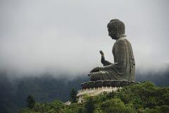 Tian Tan Buddha, île de Lantau, Hong Kong images libres de droits