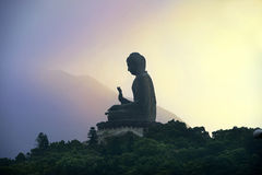 Tian Tan Buddha ( Big Buddha ), Po Lin Monastery, Hong Kong Stock Photo