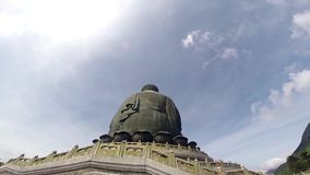 Tian Tan buddha, the biggest buddha in Hong Kong Full HD stock video