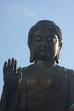 The Tian Tan Buddha Blessing. Closeup by Katharina Notarianni Stock Image