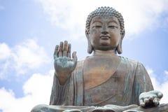 Tian Tan Buddha, Budda grande, Tian Tan Buddha enorme em Po Lin Monastery em Hong Kong foto de stock