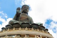Tian Tan Buddha, Budda grande, Tian Tan Buddha enorme em Po Lin Monastery em Hong Kong foto de stock royalty free