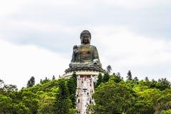 Tian Tan Buddha (cinglement 360 de Ngong) Image libre de droits