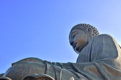 Tian Tan Buddha Close Up Statue photos libres de droits