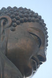 The Tian Tan Buddha. Closeup by Katharina Notarianni Royalty Free Stock Photos