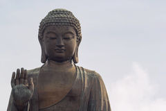 Tian Tan Buddha Closeup Stock Photo