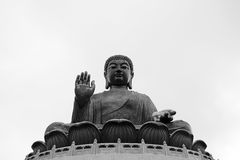 Tian Tan Buddha en île de Lantau, Hong Kong Image libre de droits