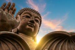 Tian Tan Buddha. The enormous Tian Tan Buddha at Po Lin Monastery in Hong Kong Stock Photography