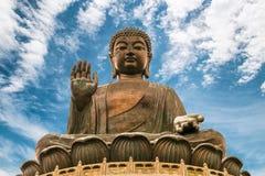 Tian Tan Buddha. The enormous Tian Tan Buddha at Po Lin Monastery in Hong Kong Royalty Free Stock Image