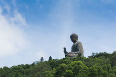 Tian Tan buddha, giant bronze buddha at Hong Kong Royalty Free Stock Photography