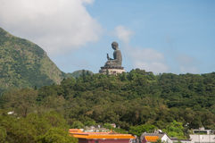 Tian Tan Buddha or Giant buddha on Lantau Island Stock Images