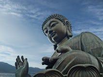 Tian Tan Buddha gigante del monasterio del Po Lin - KE foto de archivo