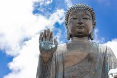 Tian Tan Buddha, grande Budda, Tian Tan Buddha enorme al Po Lin Monastery in Hong Kong fotografia stock libera da diritti
