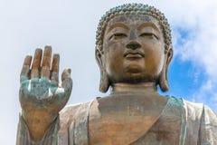 Tian Tan Buddha, Grote Budda, enorm Tian Tan Buddha in Po Lin Monastery in Hong Kong stock fotografie