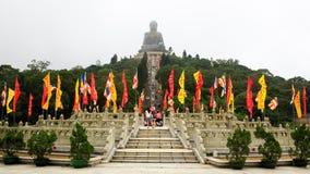 Tian tan Buddha, Hong Kong stockfotos