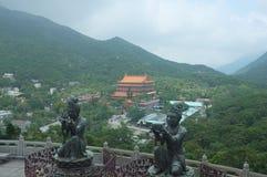 Tian Tan Buddha, Hong Kong NO.3. Tian Tan Buddha locate at Ngong Ping district near by airport royalty free stock photos