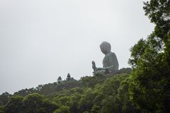 Tian Tan Buddha in Hong Kong royalty free stock images