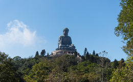 Tian Tan Buddha, isola di Lantau, Hong Kong immagine stock