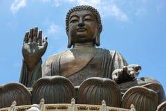 Tian Tan Buddha Lantau ö Arkivbilder