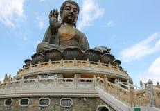 Tian Tan Buddha Lantau ö Royaltyfri Fotografi