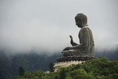 Tian Tan Buddha Lantau ö, Hong Kong royaltyfria bilder