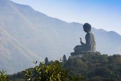 Tian Tan Buddha Lantau ö, Hong Kong Arkivfoto